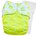 Kiwi Crush(Mint Blue / Green) - Bouncing Peaches Cloth Diapers India