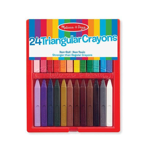 Ensemble de 24 crayons de cire triangulaire de Melissa and Doug 4136