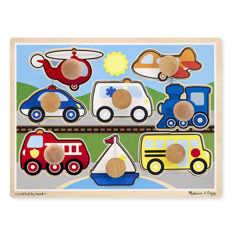 Puzzle gros boutons vehicules - Melissa & Doug