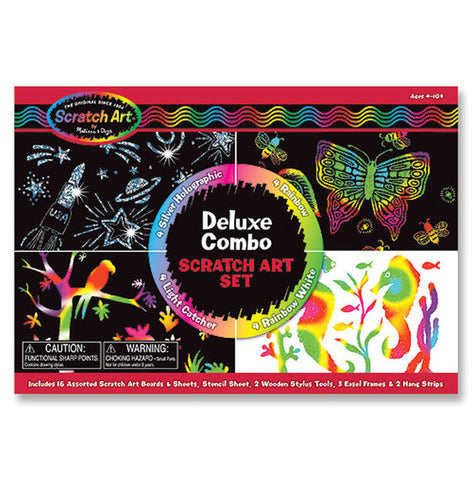 Kit deluxe Scratch art - Melissa & Doug