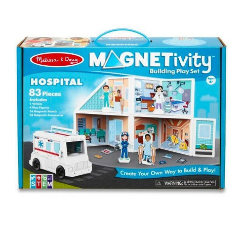 Construction magnetique Hopital 83 pieces 30655 Melissa & Doug