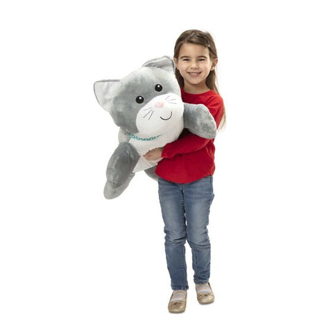 Chat calin oreiller peluche de Melissa & Doug 30704