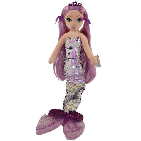 TY Lorelei Sirene Mermaid 18 pouces Sea Sequins flippable