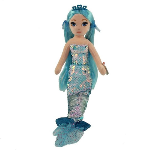 TY Indigo Sirene Mermaid 18 pouces Sea Sequins flippable