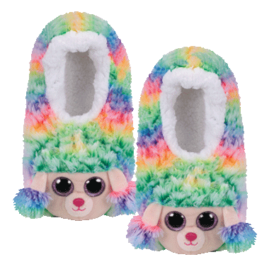 TY Pantoufles Fashion Slipper Socks Small Rainbow