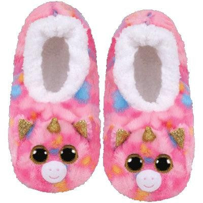 TY Pantoufles Licorne Fashion Slipper Socks Large Fantasia