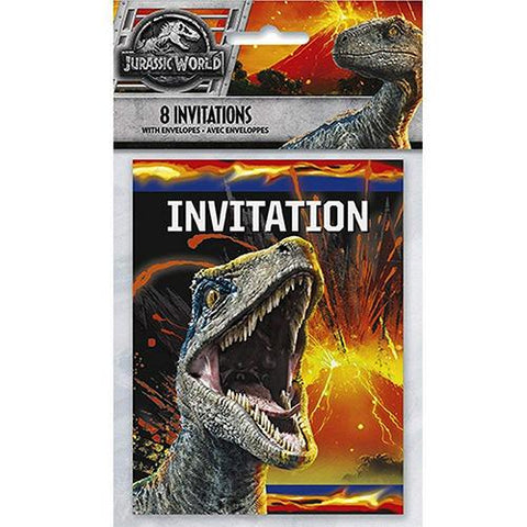8 Invitations cartes de fêtes Jurassic world