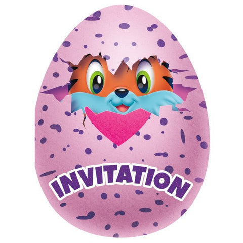 Carte invitation Hatchimals 59314 - Articles de fête