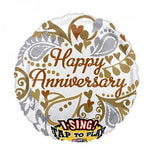 Singing Balloon Happy Anniversary Still the One 28 pouces