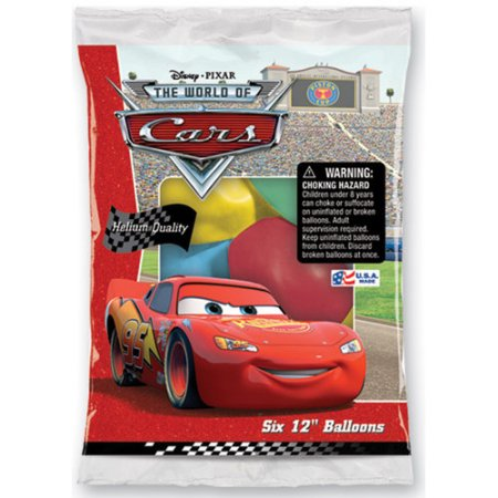 6 Ballons Cars Flash Mcqueen
