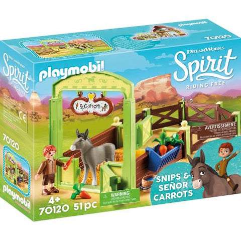 Playmobil Dreamworks Spirit La meche et Monsieur Carotte avec box 70120