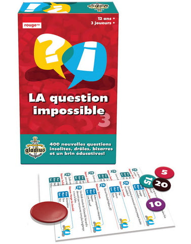 La Question Impossible 3 de Gladius