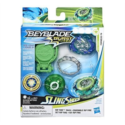 Beyblade Burst Turbo Sling Shock s'illumine Ensemble Rip Fire Forneus F4