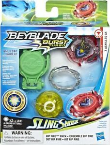 Beyblade Burst Turbo Sling Shock s'illumine Ensemble Rip Fire Z Achilles A4