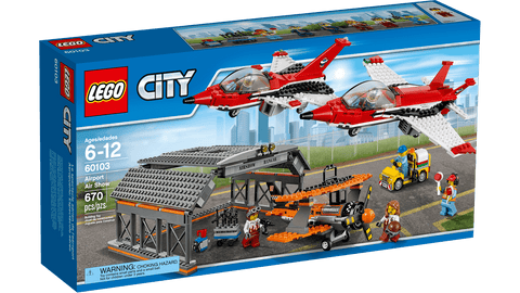 Lego City Aéroport Airport air show 60103