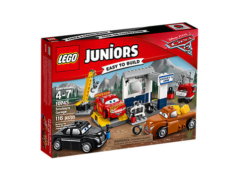 LEGO JUNIORS BAGNOLES 10743 Le garage de Smokey