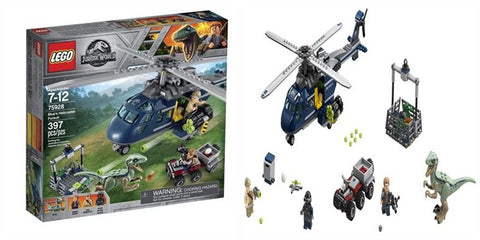 LEGO Jurassic World 75928 La Poursuite en helicoptere de Blue