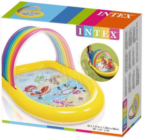 Intex Piscine air de jeux Arche Arc en ciel