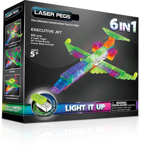 Laser Pegs Avion d'affaires 6en1