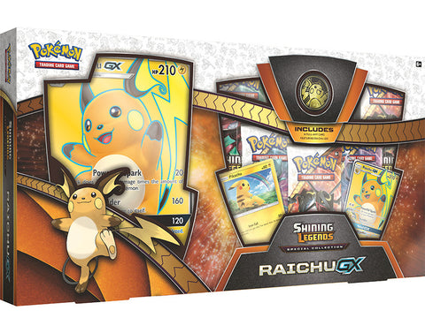 Mega Boîte Pokémon Raichu GX - Collection Spéciale TCG Shining Legends - Cartes + Jeton