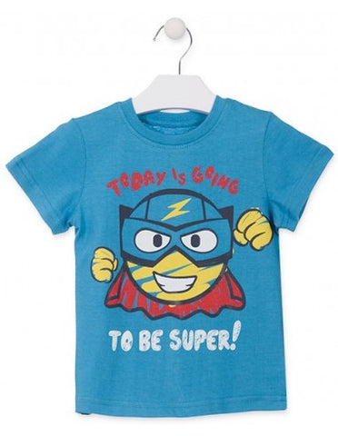 T-Shirt Super Hero Bleu Losan 915-1203AA col. 031
