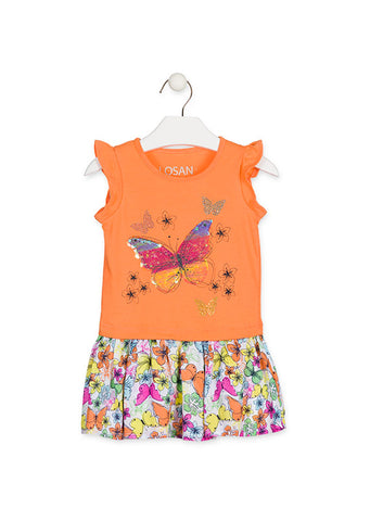 Robe Papillons Flippable Orange 916-7020AA Losan Col.621