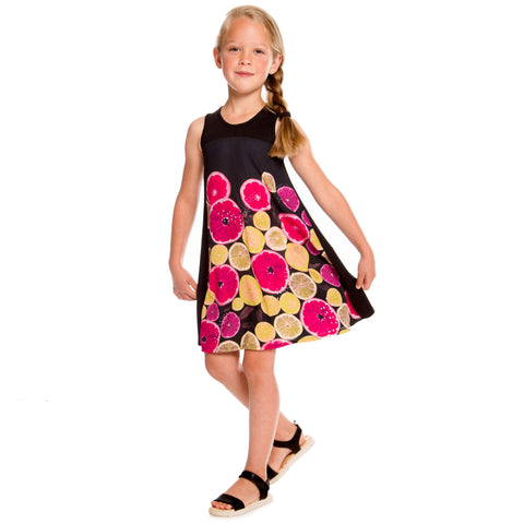 Robe Photoprint Citrus Fruits 3-12 ans Deux par Deux A30J92 col 999