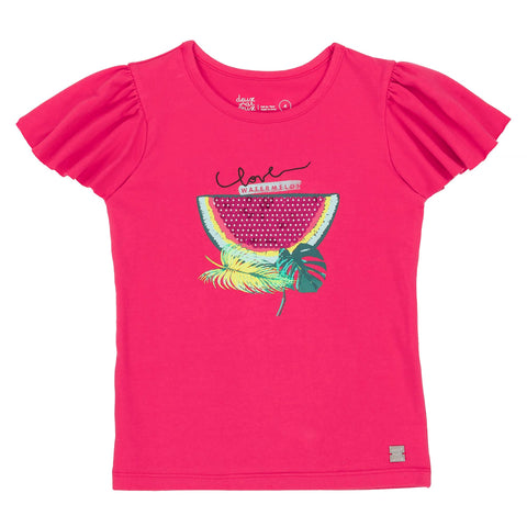 T Shirt Ruffle Sleeves The Cockatoo Coton Organique Deux par deux A30K70 col 667
