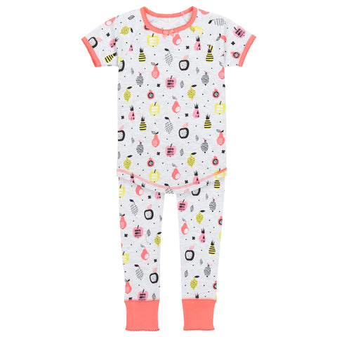 Deux par Deux Pyjama Set Fruits Coton organique A30PG24 col 045