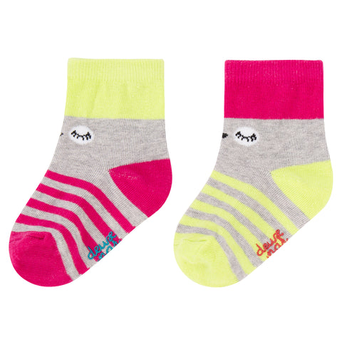 2 Paires de bas Owl you need is love Deux par Deux A20CS multicolor
