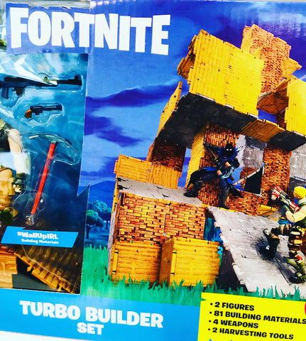 Ensemble Fortnite - Turbo builder set construction avec 2 figurines