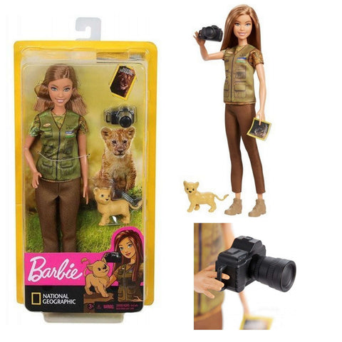 Barbie photographe animaliere Mattel