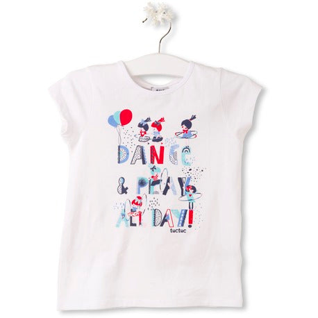 Tuc Tuc t-Shirt Blanc Dance-Play-All day - 48794