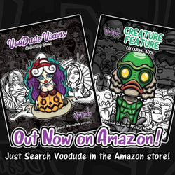 Voodude design colouring books. Choice of two.