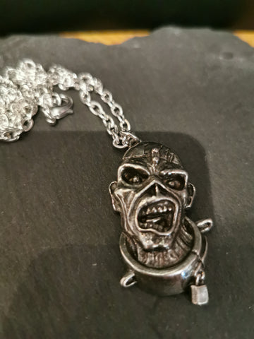Alchemy Gothic Pewter Iron Maiden Piece Of Mind Pendant
