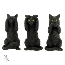 Three wise cats 9.5cm