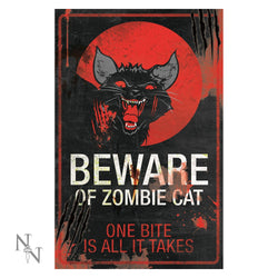 Zombie cat sign. 43cm