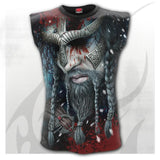 All over wrapped print viking vest