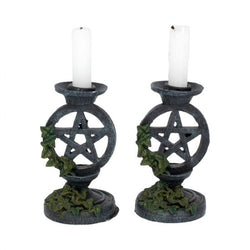 Small weathered candle stick holders