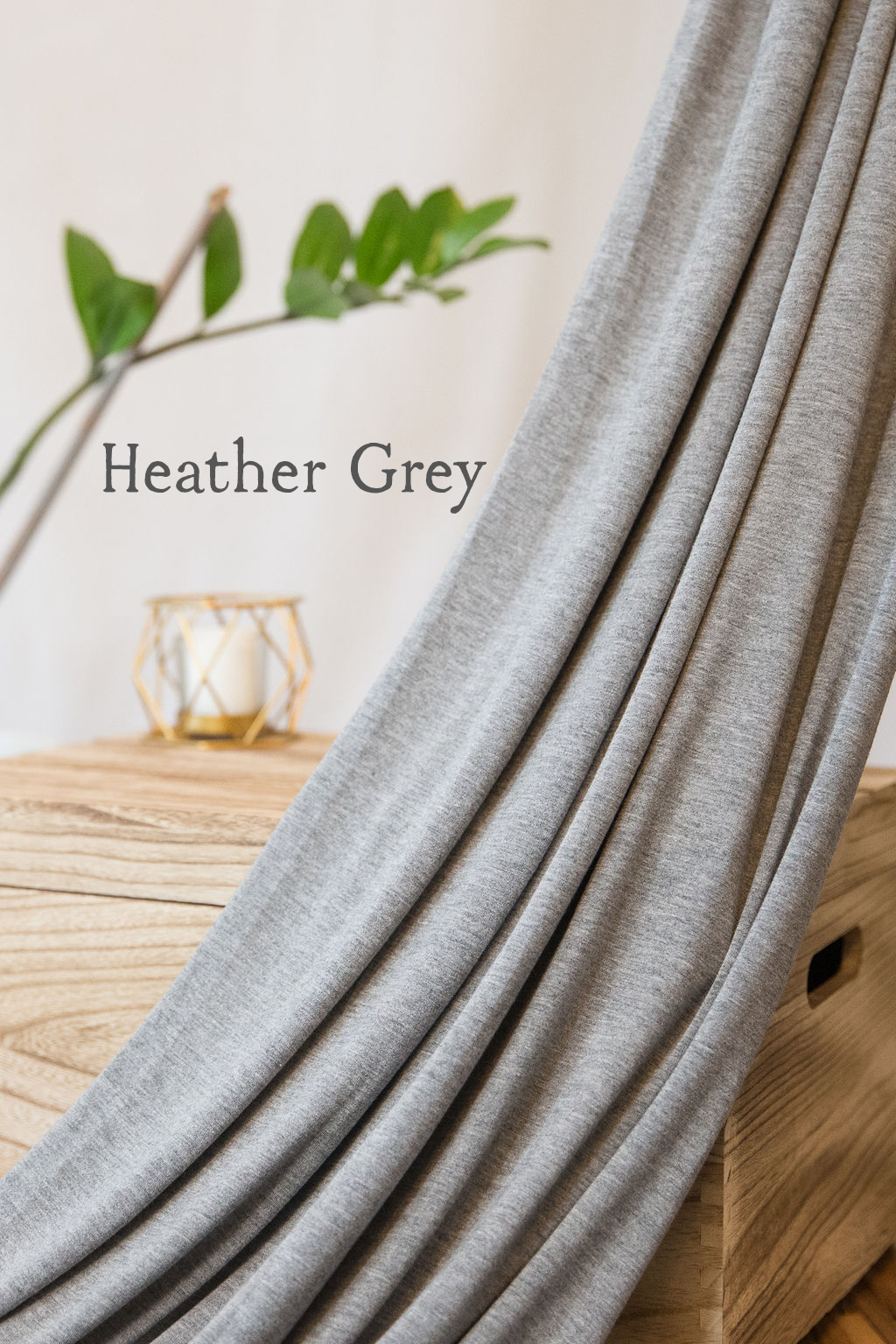 Hoodie/Turban- Heather Grey