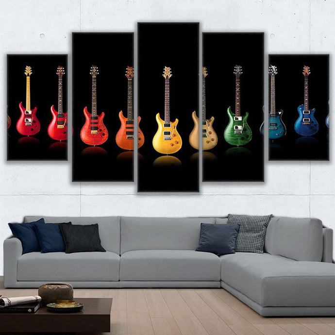 Five Piece Music Canvas - PRS Guitars