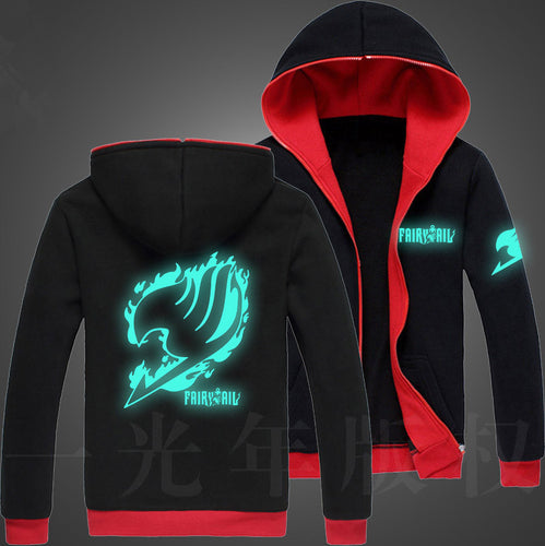 Fairy Tail Glow in the Dark Hoodie 5 styles to choose