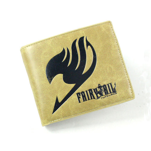 Fairy Tail Logo Khaki Anime Short Style Wallet