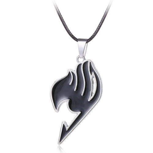 Fairy Tail Anime Black Logo Metal Necklace Pendant