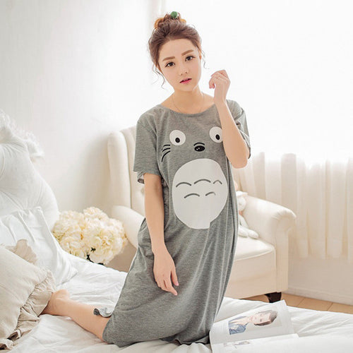 Totoro Long Bed Time Loungewear Pajama T-Shirt