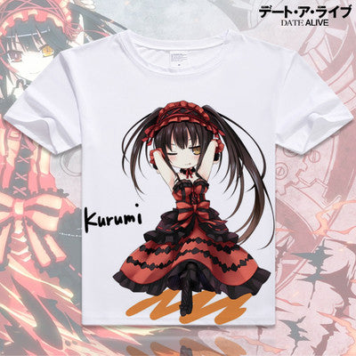 Date A Live Short Sleeve Anime T-Shirt V13