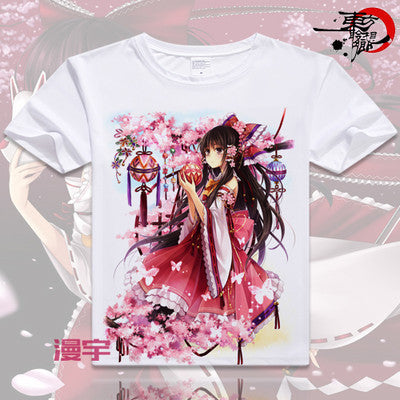 Touhou Project Short Sleeve Anime T-Shirt V6
