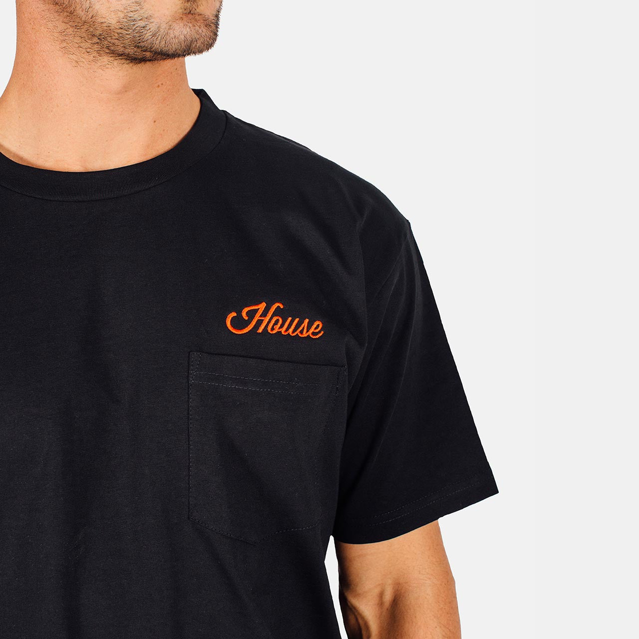 House Beer - Script Logo Pocket Tee