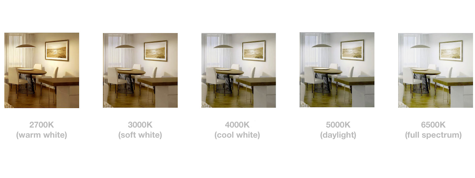 2700K-3000K-4000K-5000K-6500K-CCT-DIFFERENCES