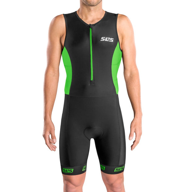 green tri suit men